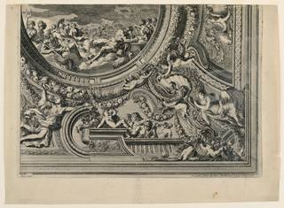 "Print, Ceiling, from ""Grands Carts de Plafons"", 1661"