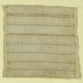 """Sampler showing seven patterns for joining fabrics by """"open seams."""""""