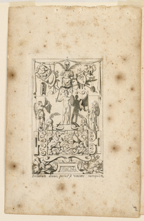 "Print, Grotesque with Deities. Plate 09 ""Mars,"" 2nd state"