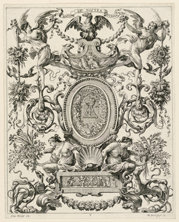 Print, Grotesque Panel, plate 7, ca. 1647