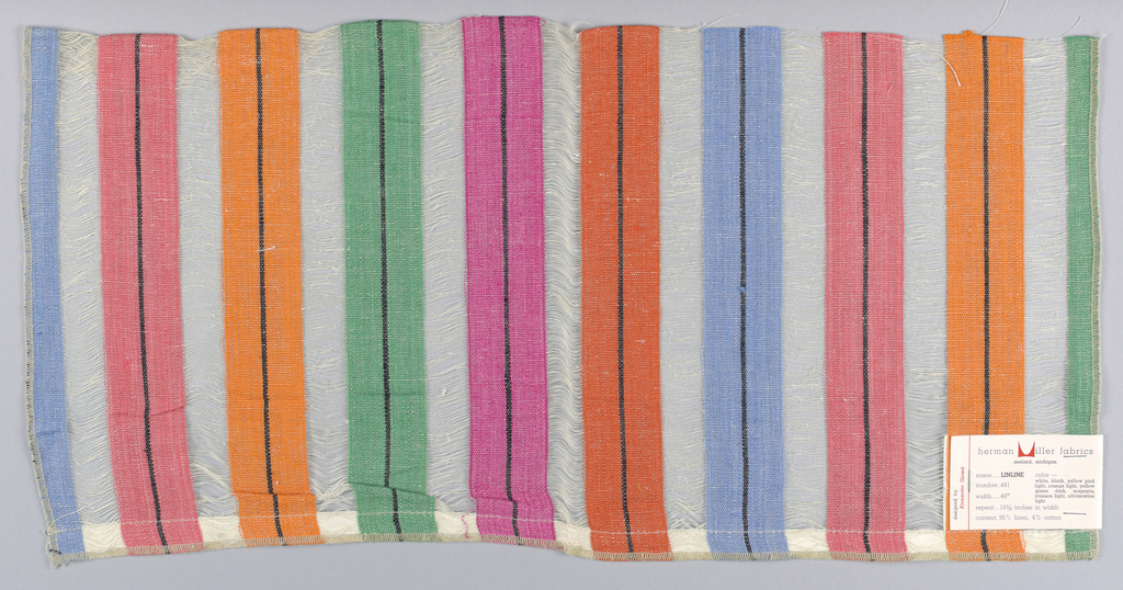 Multicolored vertical stripes.
