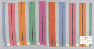 Multicolored vertical stripes.