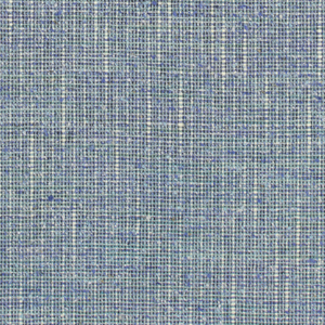 Balanced weave with tweedy effect created through the use of space-dyed yarns in shades of blue.