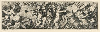 Print, Frieze: Trophies of Arms and Putti