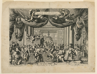 "Print, The Death of Amnon, Plate 1 from ""Gland Alcoves a la Romaine"""