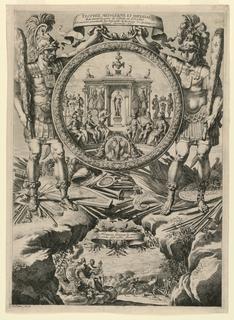 Print, Trophee médallique et impérial (Medal and Imperial Trophy), 1661