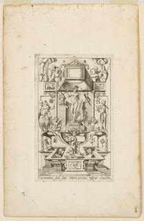 "Print, Grotesque with Deities. Plate 13 ""Mercury,"" 2nd state"