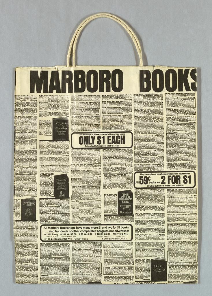 Shopping Bag, Marboro Books