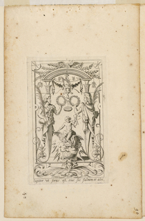"Engraving, Grotesque with Deities. Plate 03 ""Jupiter,"" 2nd state"