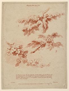 Print, Plate 2 from Livre Ier,  Principes du dessin dans le genre du Paysage