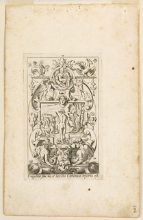 "Print, Grotesque with Deities. Plate 14 ""Ceres,"" 2nd state"