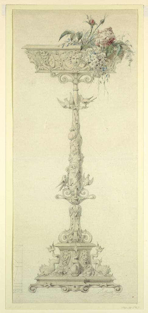 Drawing, Flower Stand