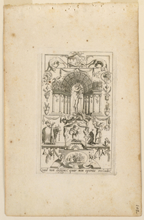 "Print, Grotesques with Dieties, Plate 15, 2nd State, ""Bacchus"""