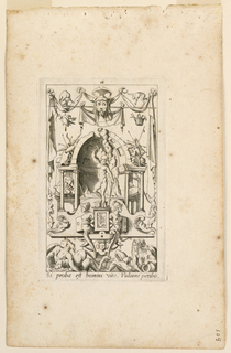 "Print, Grotesques with Dieties, Plate 16, 2nd State, ""Vulcan"""