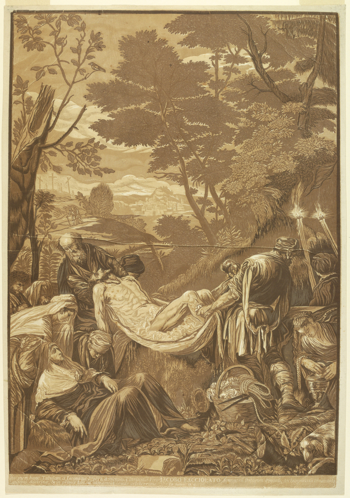 Print, The Entombment, after Jacopo Bassano