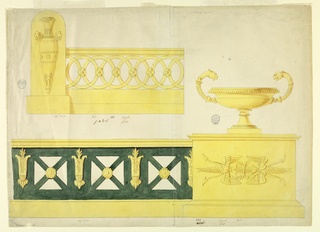 Drawing, Two Andirons, 1800–1825