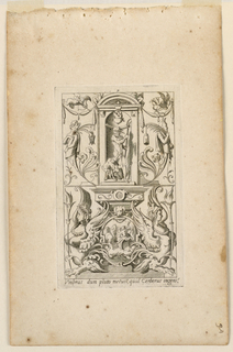 "Print, Grotesque with Deities. Plate 07 ""Pluto,"" 2nd state"