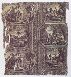 Scenes showing fables set in medallions.