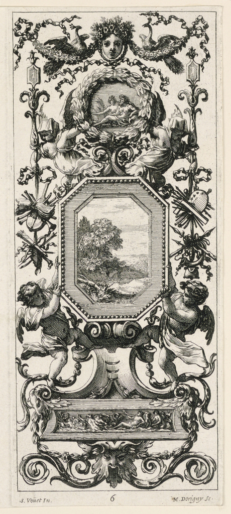 Print, Grotesque Panel, plate 6