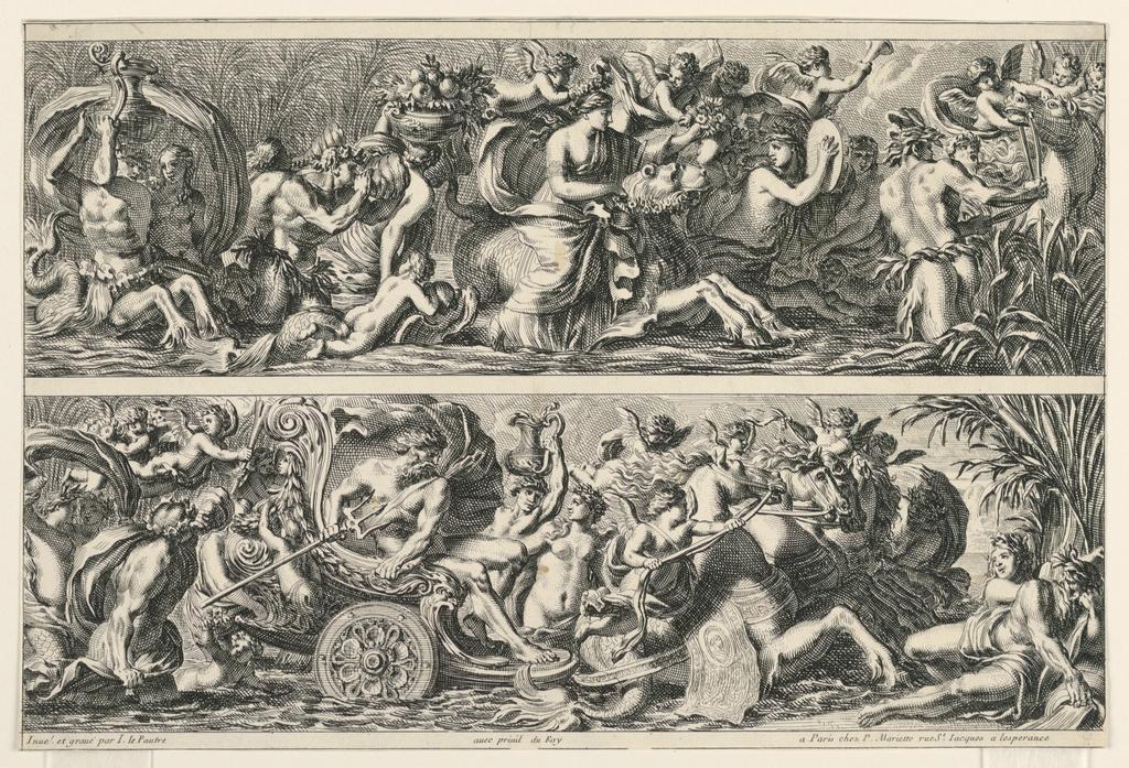 """Print, Two Friezes, from """"Frises Feuillages et Autres Ornemens"""", 1650-1660"""