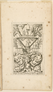 "Print, Grotesque with Deities. Plate 12 ""Diana,"" 2nd state"