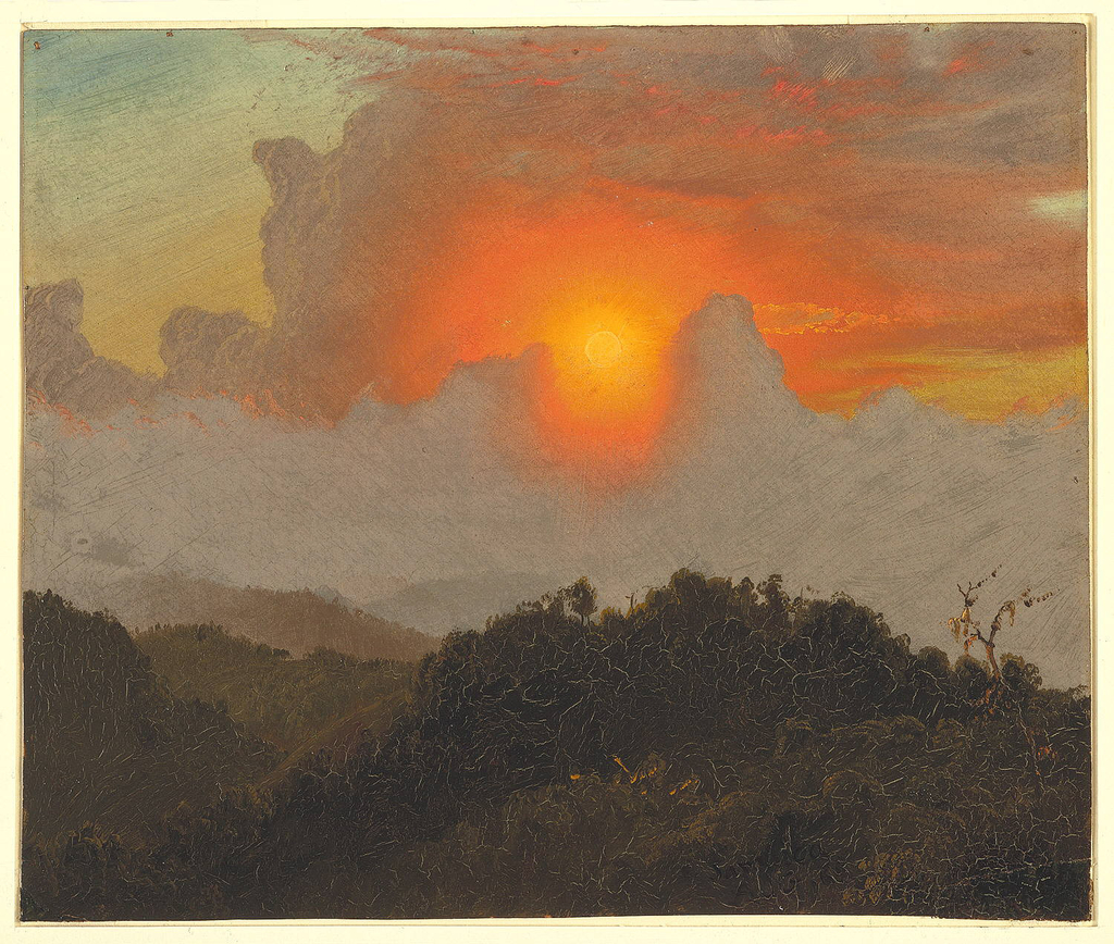 Drawing, Clouds and Sunset, Jamaica