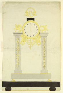 Drawing, Design for a Timepiece, 1800–1825