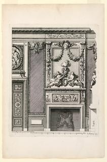 Print, Plate in Nouvelles Cheminée faittes en plusieur en droits (New Designs for Fireplaces)
