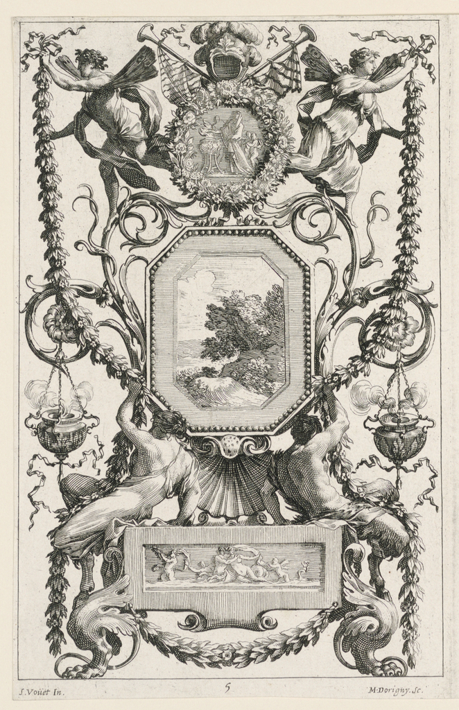 Print, Grotesque Panel, plate 5