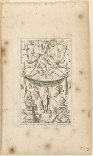 "Print, Grotesque with Deities. Plate 06 ""Pallas Athene,"" 2nd state"