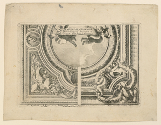 "Print, Two Designs for Cieling, from ""Plafons à la Romaine"""