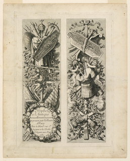 "Print, Set of Trophies, from ""Trophey a l'Antique"""