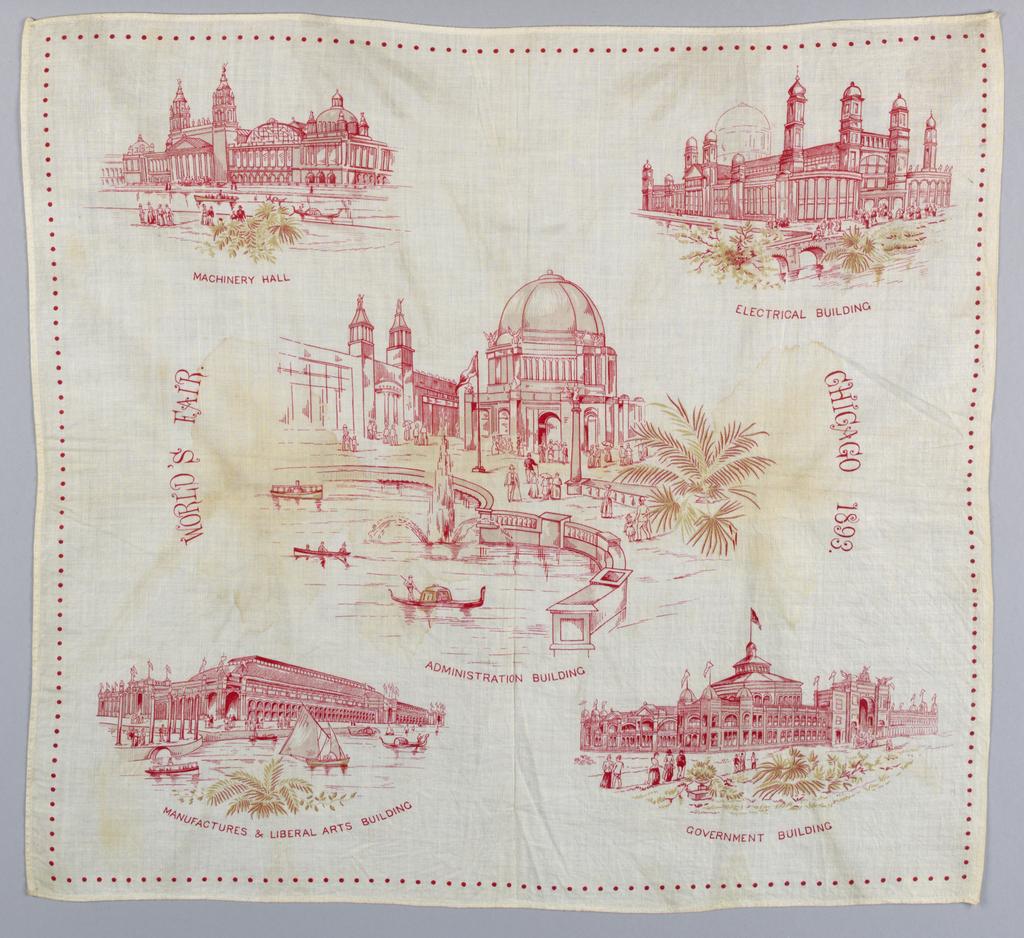 Handkerchief, Chicago World's Fair, 1893