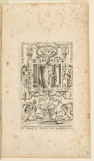 "Print, Grotesque with Deities. Plate 10 ""Venus,"" 2nd state"
