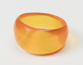 Bangle bracelet, clear orange.