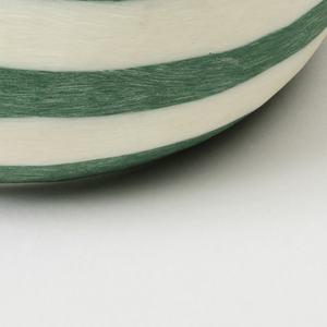 Bangle bracelet, opaque green and white.