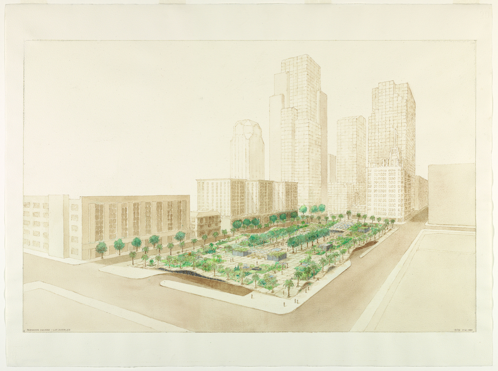 Drawing, Proposal for Pershing Square, Los Angeles
