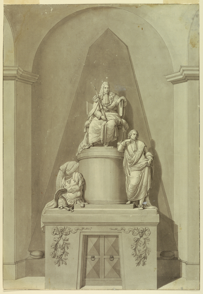 Drawing, Sepulchral Monument of James III and Henry Cardinal York