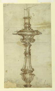 Drawing, Design for a Silver Candl, ca. 1725