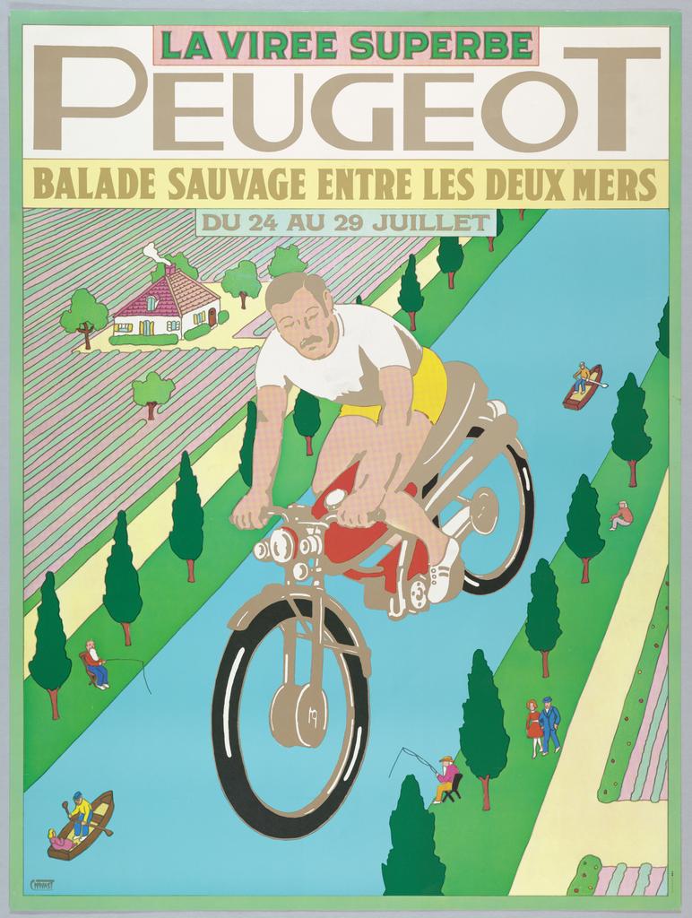 Poster, La Virée Superbe, Peugeot (The Superb Trip)