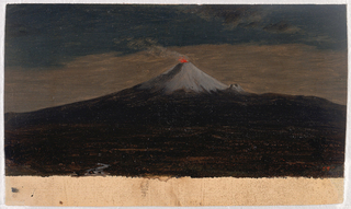 Drawing, Erupting Volcano (Cotopaxi), South America, September 1853