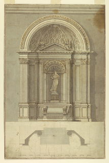 Drawing, Design for an altar for St. Anthony of Padua