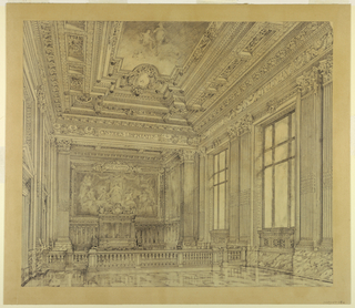 Drawing, View of Court Room, Federal Building, Cleveland, OH