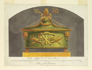Drawing, Sarcophagus for the Relic