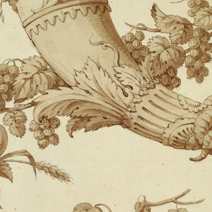 Drawing, Cartoon for Silk Damask:, 1800–1815
