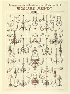 Broadside, Advertisement for Gas Lighting Fixtures, ca. 1895