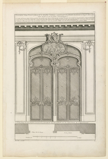 Print, Decoration d'une porte double, ca. 1727