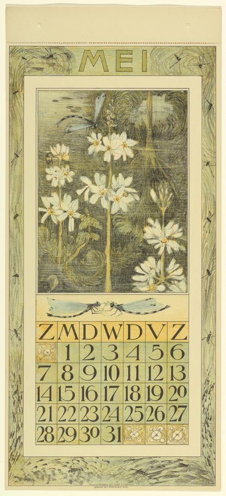 Print, Design for a Calendar (April)
