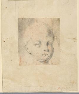 A child shown in three-quarter profile.