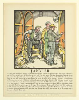 Print, La Grande Anne Vignerone (series of twelve woodcuts depicting the months of the year)